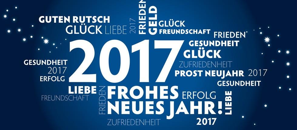 2017 Neujahrsgruss blau deutsch